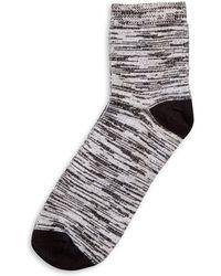 Hue - Spacedye Soft Cropped Socks - Lyst