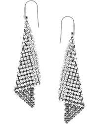 Swarovski Crystallized Fit Triangle Pendant Earrings - Metallic