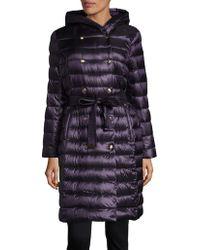 Ellen Tracy - Petite Snap-front Hooded Puffer Jacket - Lyst