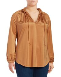 Seven7 - Plus Long Bell Sleeve Top - Lyst