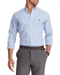 Polo Ralph Lauren Classic Gingham Cotton Shirt - Blue