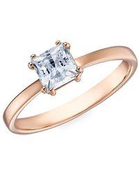 Swarovski Attract Motif Rose Goldtone & Crystal Ring - Metallic