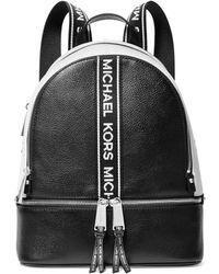 MICHAEL Michael Kors Rhea Medium Logo Backpack - Black