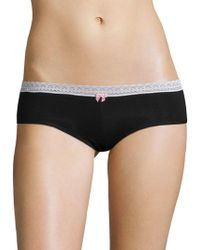 Betsey Johnson - Cotton Spandex Hipster - Lyst