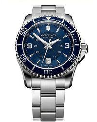 Victorinox Maverick Gs Stainless Steel Watch - Blue