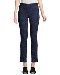Isaac Mizrahi New York - Floral-print Trousers - Lyst