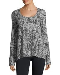 Kensie - Camouflage Thermal Top - Lyst