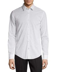 BOSS Ronnie Printed Shirt - White