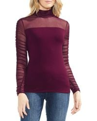 Vince Camuto - Estate Jewels Ruched-sleeve Blouse - Lyst