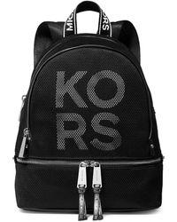 MICHAEL Michael Kors Medium Rhea Zip Backpack - Black