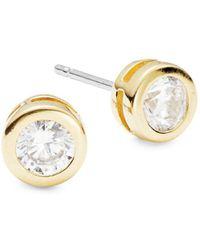 Nadri - Goldtone Cubic Zirconia Stud Earrings - Lyst