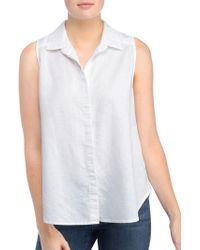 NYDJ - Buttoned Sleeveless Top - Lyst