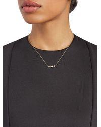 Anzie Aztec North Star Micro-bar 14k Gold & Diamond Necklace - Metallic