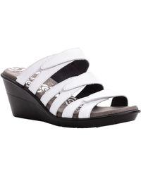 Propet Lexie Slide Sandals - White