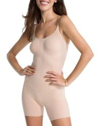 Spanx - Oncore Mid-thigh Bodysuit - Lyst