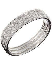 Nadri - Triple-row Crystal Bangle Bracelet - Lyst