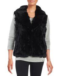 Surell - Rex Rabbit Fur Vest - Lyst