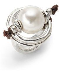Uno De 50 - Pearl Statement Ring - Lyst