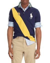 b63aef085429a Polo Ralph Lauren Custom-Fit Stretch-Mesh Polo Shirt in White for ...