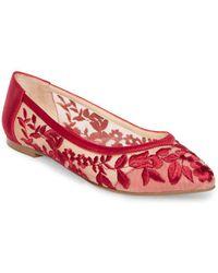 Betsey Johnson - Leah Floral Mesh Ballet Flats - Lyst