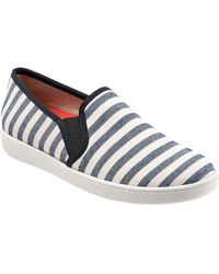 Trotters - Americana Slip-on Canvas Trainers - Lyst