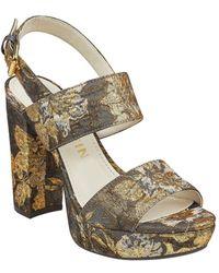 b6fd5e74ac2 Anne Klein - Lorrie Floral Platform Sandals - Lyst