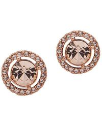 Givenchy - Rose-goldplated & Crystal Halo Button Earrings - Lyst