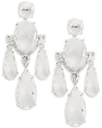 Kate Spade - Crystal Cascade Chandelier Earrings - Lyst