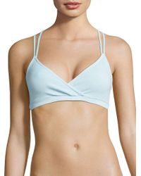 Lamade - Lily Stretch-cotton Bralette - Lyst