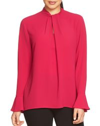 Chaus - Long-sleeve Hammered Blouse - Lyst