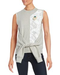 Betina - Layered Effect Panelled Sleeveless Sweatshirt - Lyst