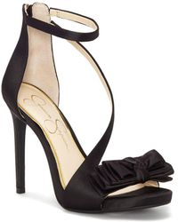 Jessica Simpson - Remyia Strappy Satin Sandals - Lyst