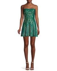 a919f9245526 Needle & Thread Linear Motif Embellished Crepe Dress in Metallic - Lyst
