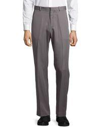 Perry Ellis Portfolio - Flat Front Luxury Performance Trousers - Lyst
