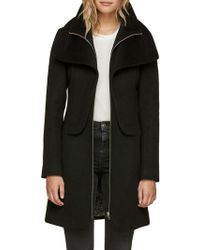 SOIA & KYO - Wool-blend Zip-front Coat - Lyst