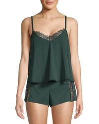 French Connection - Two-piece Lace-trimmed Pajama Set - Lyst