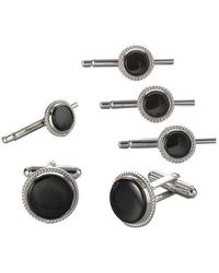 David Donahue - Sterling Silver And Onyx Stud Set - Lyst