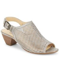 Paul Green - Lois Laser-cut Mule Slingbacks - Lyst
