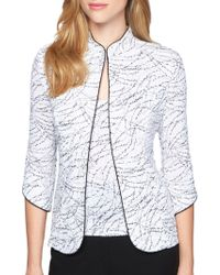 Alex Evenings - Two-piece Embellished Jacquard Jacket And Tank Top Set - Lyst
