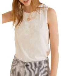 Mango - Soley Sleeveless Top - Lyst