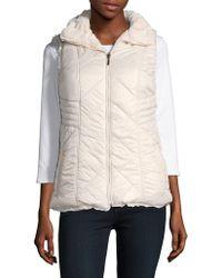 Gallery - Faux Fur Reversible Vest - Lyst