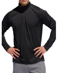 adidas Freelift Sport Quarter-zip Top - Black