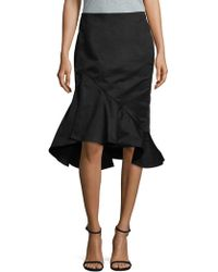 e8b17fc07533a Lyst - Lord & Taylor Graphic Maxi Skirt in Black