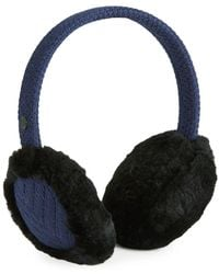 UGG - Textured Wired Knit Shearling Earmuff - Lyst
