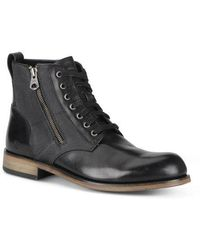 Andrew Marc - Forest Leather & Canvas Boots - Lyst