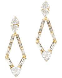 Vince Camuto - Goldtone & Crystal Kite Drop Earrings - Lyst