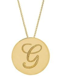 Lord & Taylor - 14k Yellow Gold Initial Pendant Necklace - Lyst
