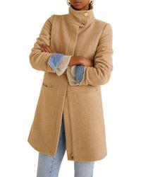 Mango - Wool Funnel Neck Coat - Lyst