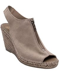 Andre Assous - Rhea Suede Espadrille Wedge Sandals - Lyst