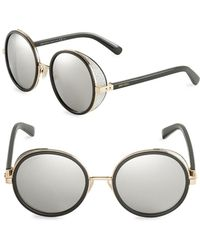 60f5f4699e0e Jimmy Choo 57mm Cat Eye Sunglasses in Metallic - Lyst